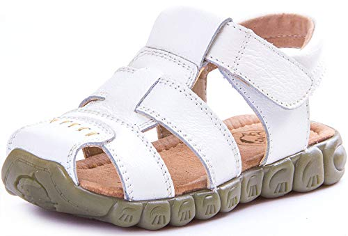 Saldgoiz Niña Niño Zapatos Sandalias de vestir en Cuero con Punta Cerrada...