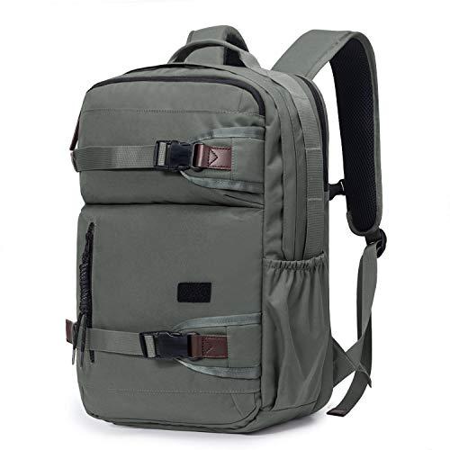 TAK Wanderrucksack Schulrucksack Reiserucksack 35L Daypack, Rucksack mit Laptop Fach 15,6 Zoll, Anti Diebstahl Wasserdichter Mehrzweck-Rucksack, für Städtetrips, Schule, Wandern, und Camping, Grau