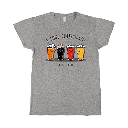 Pampling Camiseta I Do Not Discriminate - Cerveza - 100% Algodón - Serigrafía
