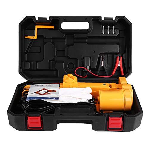 Yosoo Health Gear Cric de Voiture électrique à Ciseaux, Cric de Voiture électrique 12 Volts, Cric de Voiture à Ciseaux 2T SUV avec étui de Rangement en Plastique, Hauteur de Levage 12 à 35 Cm