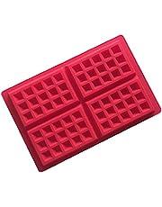 Waffle bakformar Bakeware kakform Silicone Non Stick Square Muffin Pan Dish matlagning Choklad bakformen