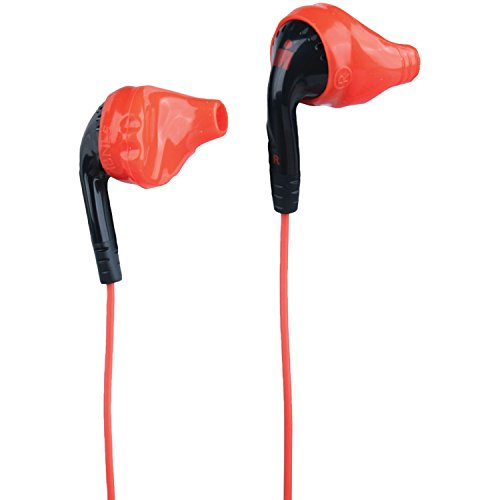 Yurbuds Ironman Inspire PRO Performance Fit Sport Earphones with 3-Button Control and Mic, Black/ Red