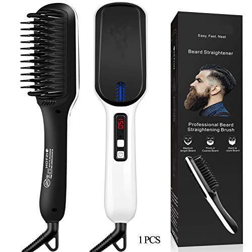Yaobuyao Ionique Cheveux et la Barbe redressage Brosse avec Fast PTC Chauffage en céramique et Affichage LED, mitigeurs redressage Peigne Portable pour la Maison et Voyage