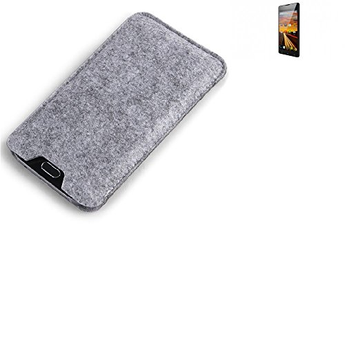 K-S-Trade® Filz Schutz Hülle Für Archos 50 Neon Schutzhülle Filztasche Filz Tasche Hülle Sleeve Handyhülle Filzhülle Grau