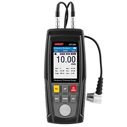 Clicke Digitales Ultraschall-Dickenmessgerät Messgerät USB-Ladegerät kann 1500 Daten speichern Ideal für Labor/Auto