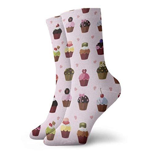 BEDKKJY voedsel snoepjes hart volwassen korte sokken katoen schattige sokken voor mannen Womens Yoga wandelen fietsen hardlopen voetbal sport