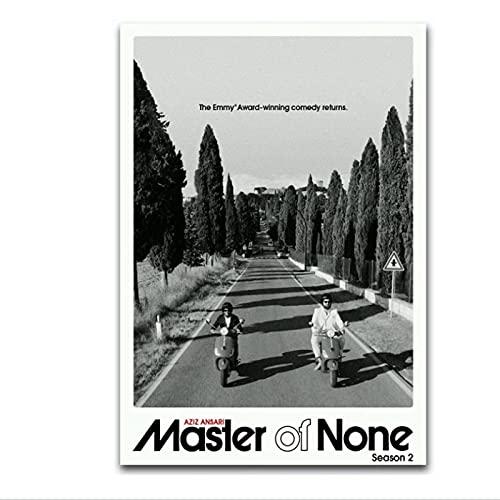 Master Of None Seson 2 Tv Series Show Poster and Prints Arte de la pared Impresión en lienzo Sala de estar Dormitorio del hogar-50x75cm x1pcs-Sin marco