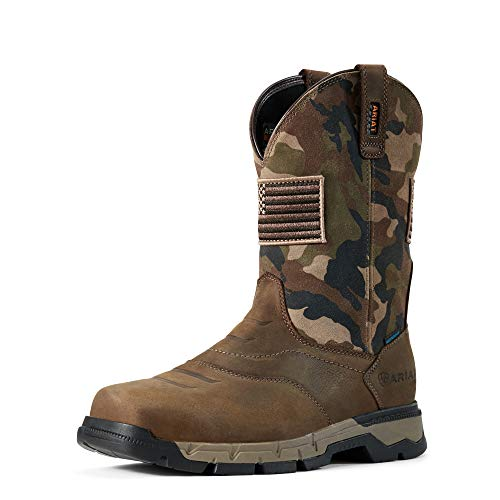 ARIAT Rebar Flex Western Patriot H2O Brown/Camo 13