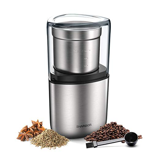 Find Bargain SHARDOR Electric Coffee Bean Grinder, Spice Grinder, 1 Removable Bowl with Stainless St...
