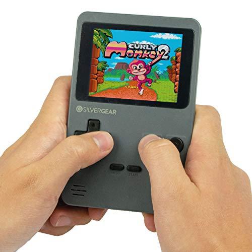 Silvergear Mini Retro Arcade Spelcomputer Grijs, 2.8 inch scherm, 240 spellen, Klassike 8-bit, Licht van gewicht, Klassieke deuntjes