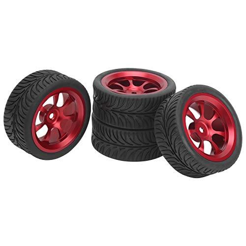 WNSC Neumático de Repuesto RC, neumático de Rueda RC pequeño con aleación de Aluminio y Caucho para Coche de Control Remoto para Artesano