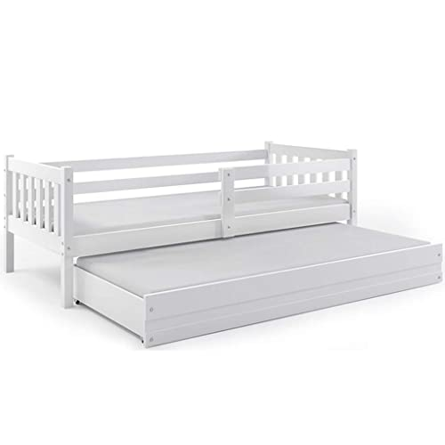 Interbeds Cama Infantil Nido 190X80 CARINO, 2 colchónes incluidos! 2 somieres de Maderas Flexibles