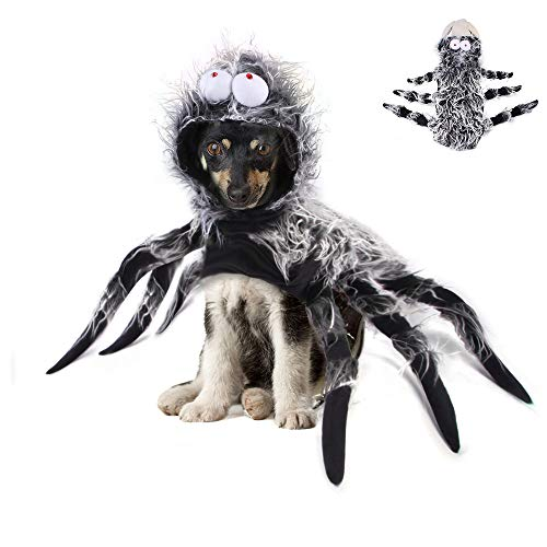 MeiAOBest Dog Halloween Costume Spider Cosplay Costume Dog Cat Apparel for Halloween Party Dress up Accessories (XL)