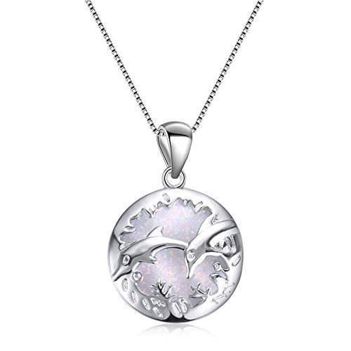 New Faux Opal Carved Dolphins Pendant Clavical Chain Necklace Jewelry - Blue Comfortable and Environmentally