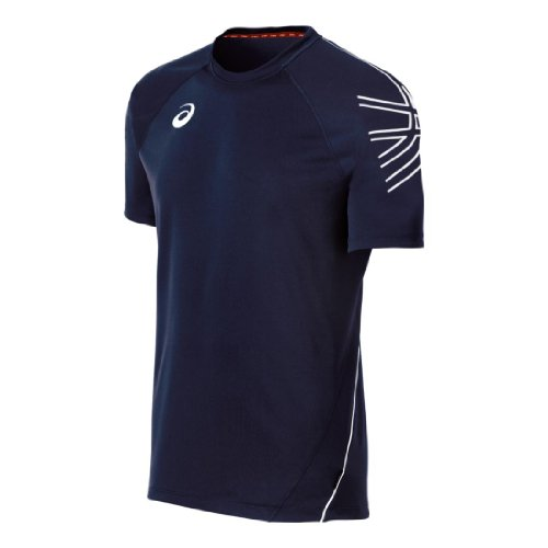 ASICS Herren Team Performance Tennis-Trikot, Marineblau/Weiß, Größe S