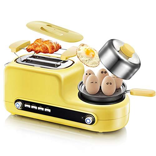YYEWA Inicio Multifuncional Horno Máquina De Desayuno 5 En 1 Tostadora Ranura Ancha Automática Omelette Microondas Máquina De Emparedado