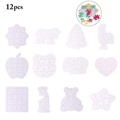Joyibay 12PCS Juguete DIY Puzzle Creativo Pintura