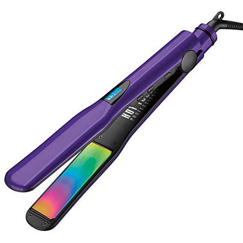 "HOT TOOLS Professional Rainbow Titanium Digital Salon Flat Iron, 1 ¼"""