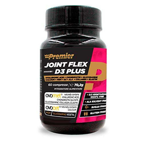 Premier Integratori Joint Flex D3 Plus - 60 compresse | membrana d'uovo in polvere e calcio daguscio d'uovo (Ovocet) | Glucosammina di origine vegetale, MSM, acido lipoico, vitaminaD3