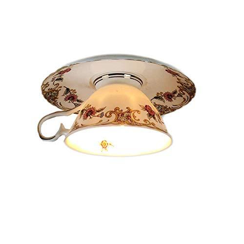 Vinteen Keramik Original LED Macaron Scheinwerfer Kreative Dessert-Shop Dekorative Lichter Kaffeetasse Downlight Embedded Bartheke Oberfläche Deckenleuchte Deckenleuchte (Größe : Surface mounted)