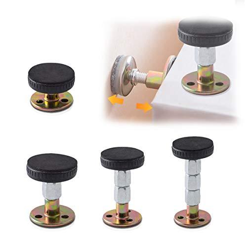 Homkeen Verstellbares Gewindebettrahmen Anti-Schüttelwerkzeug, Teleskopstütze für Zimmerwand, 4 Stück
