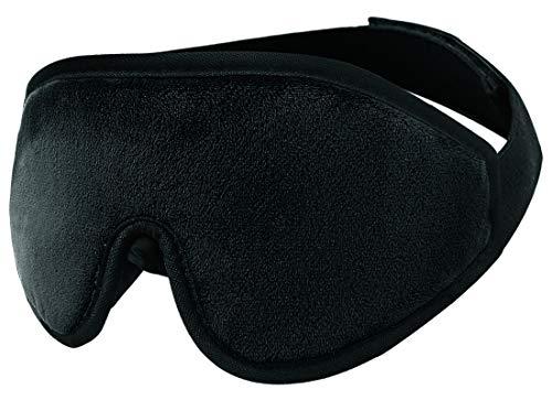 Wengerui 3D Antifaz para Dormir Totalmente Opaco 100% Anti-Luz, Antifaces Máscara Hecho de Algodón Natural con Correas Ajustables para Viajes, Turnos de Trabajo y Meditación (Negro)