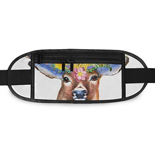 Reißverschluss Camping Sicherheit Travel Art Antilope Running für Männer Frauen Hüfttasche Fashion Sport