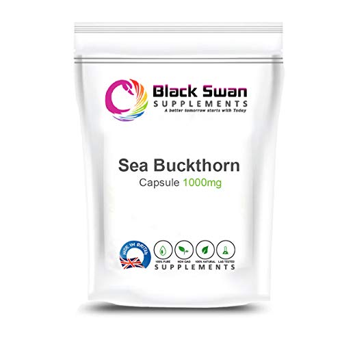 Black Swan Sea Buckthorn Supplement   Rich Nutrients   High Anti-oxidant Properties   Healthy Skin Health   with Omega 7   Restore Skin's Natural Elasticity   1000mg Capsules (120 caps)