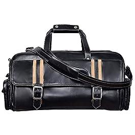 Sac de fin de semaine en cuir noir HOLD ALL Sac de sport en cuir véritable Duffel Travel Gym Nouveau produit de luxe…