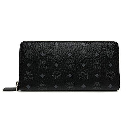 MCM Visetos Original Zipped Wallet Large Black One Size