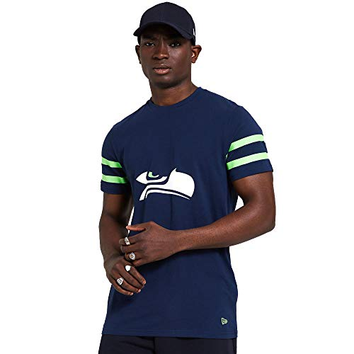 New Era Seattle Seahawks NFL Shirt Jersey American Football Fanshirt Trikot Blau - L