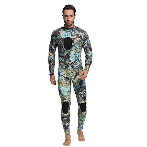 Overmal Herren Neoprenanzug, Männer Ganzkörper Neoprenanzug Schwimmen Tauchen Schnorcheln Surfen Tauchanzug Overall, Back Zip Neoprenanzug Sonnenschutz Schwimmanzug