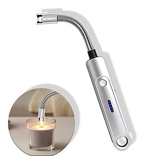 Elektrisches Feuerzeug Flammenloses Sicherheitsfeuerzeug Kerzenfeuerzeug Wiederaufladbares Lichtbogen feuerzeug für Sicherheitsschalter Sicherheits-Langfeuerzeug für Grill, Küche, Camping-Gasherd