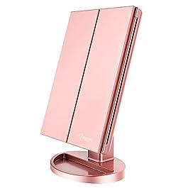 BESTOPE Lighted Makeup Mirror 2X/3X Magnification Vanity Mirror