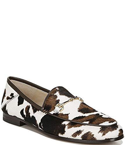 [サムエデルマン Sam Edelman] シューズ 26.5 cm スリッポン・ローファー Loraine Cow Print Calf Hair Loafers White/Brow レディース [並行輸入品]