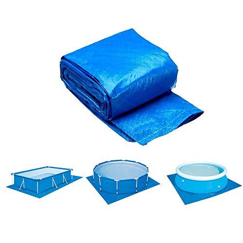 ZHENN Schwimmbadabdeckung Schwimmbadplane Schwimmbadbodentuch Poolabdeckung Schwimmbecken Matte Für Verschiedene Aufblasbare Pools Geeignet Sind Blau,Blau,396x396cm
