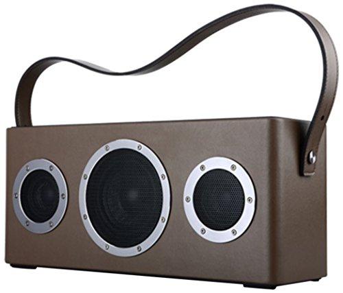 GGMM M4play-n-go Tragbare WLAN und Bluetooth-Lautsprecher, braun