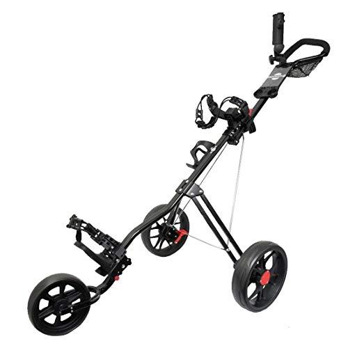 team golf golf carts Hoveroid 3 Wheel Golf Push Cart, Foldable Golf Trolley,Easy Push and Pull Golf Cart