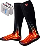Global Vasion Men's Women's Winter Rechargeable Electric Battery Heated Socks Kit for Chronically Cold Feet,A Must Have Sports&Outdoor NoveltyThermal Socks,Best Gift Ideas Foot Warmer