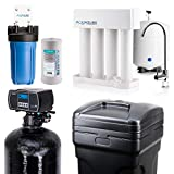 Aquasure Whole House Water Filtration Bundle w/Water Softener, 75 GPD RO System & Dual Purpose Sediment/GAC Pre-Filter (64,000 Grains)