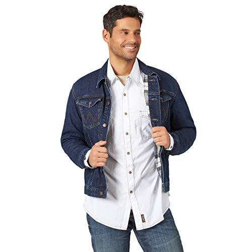 Wrangler Herren Western Style Lined Denim Jacket Jeansjacke, Verblasstes Indigoblau, X-Large