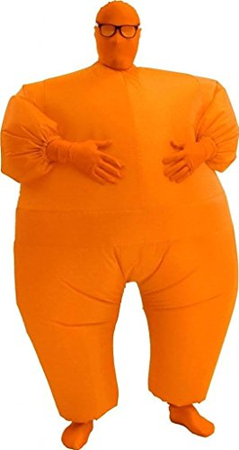 Inflatable Chub Suit Costume: Orange One Size Fits Most