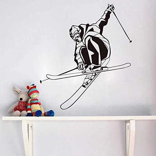 WERWN Decoración de Interiores Esquí Etiqueta de la Pared Vinilo Decoración del hogar Sala de Estar Dormitorio Adolescente Arte Mural