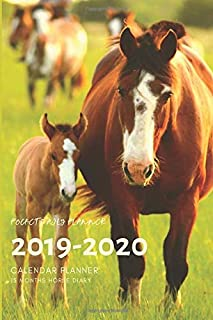 Pocket 2019-2020 Planner Calendar - 15 Months Daily Planner Horse Diary: Small Mini Calendar To Fit Purse & Pocket; Slim Academic Monthly & Weekly ... Motivational Quotes; From Oct 2019- Dec 2020