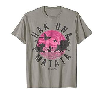 Disney Lion King Simba Silhouette Hakuna Graphic T-Shirt