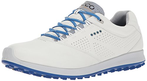 ECCO Men's Golf Biom Hybrid 2, Chaussures Homme, Blanc (White/Bermuda Blue), 46 EU