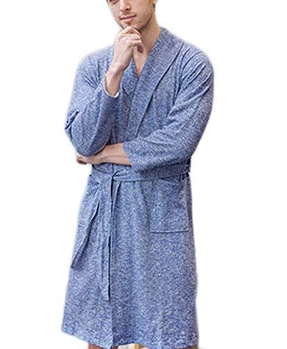 Badjas heren heren heren lange badjas comfortabele mouw spring modern casual robe badde spa soft pyjamas dressing gown huisjas