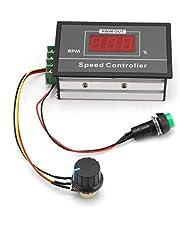 Bindpo Regulator prędkości obrotowej, DC 6-60 V 12 V 24 V 36 V 48 V 30 A PWM DC, regulator prędkości obrotowej silnika, przełącznik start-stop, z cyfrowym wyświetlaczem LED