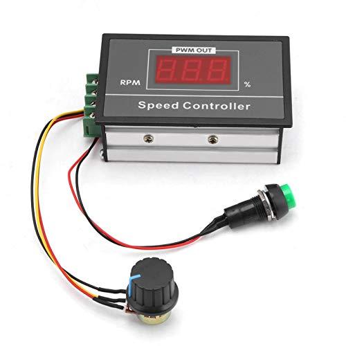 Controlador de motor, DC 6-60V 12V 24V 36V 48V 30A PWM DC Controlador de velocidad del motor Interruptor de arranque y parada Regulador de gobernador continuo ajustable