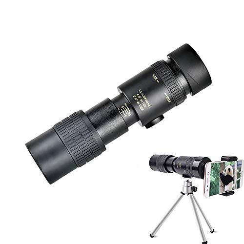 Monoculares Starscope,4k 10-300x40monoculares estrela de alta definição de alta ampliação,observação de pássaros,monoculares de pesca e caminhadas,à prova d'água com telefone celular suporte e tripé
